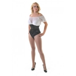 Ava Black Satin W/cincher Corset**